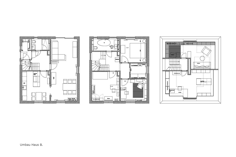 Räume Portfolio Haus B.1